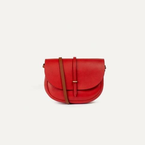 Java mini Postman bag - Red