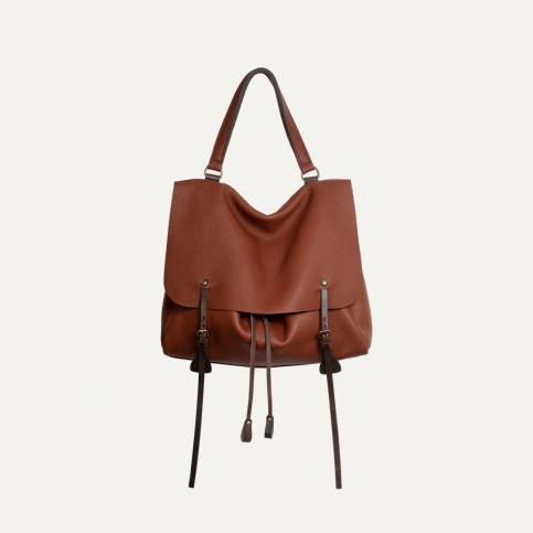 Colette leather satchel - Cuba Libre