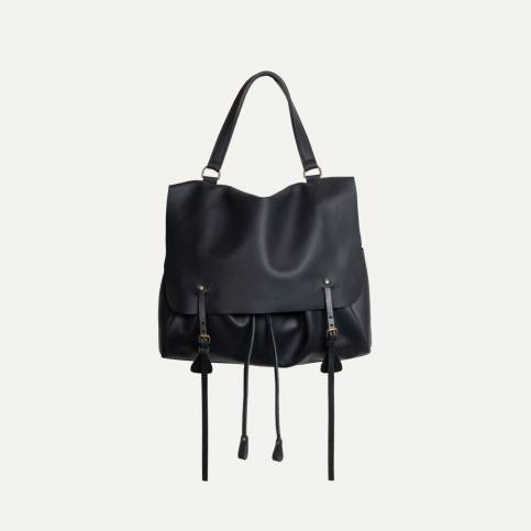 Colette leather satchel - Black