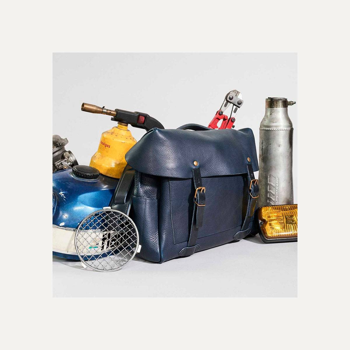 Bleu de Chauffe x Blitz Eclair bag - Navy (image n°9)