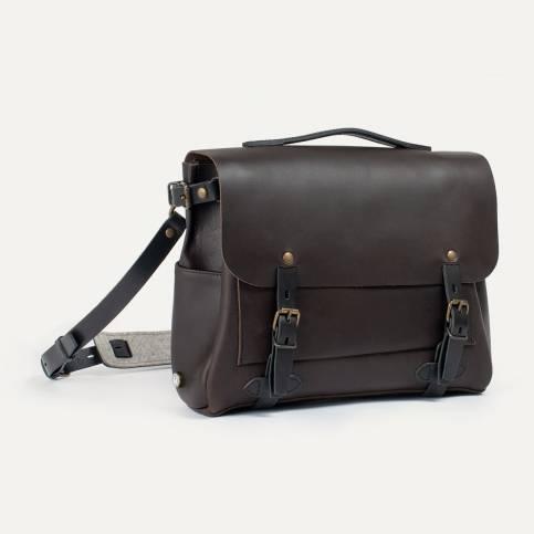 Postman bag Éclair M - Expresso / Black