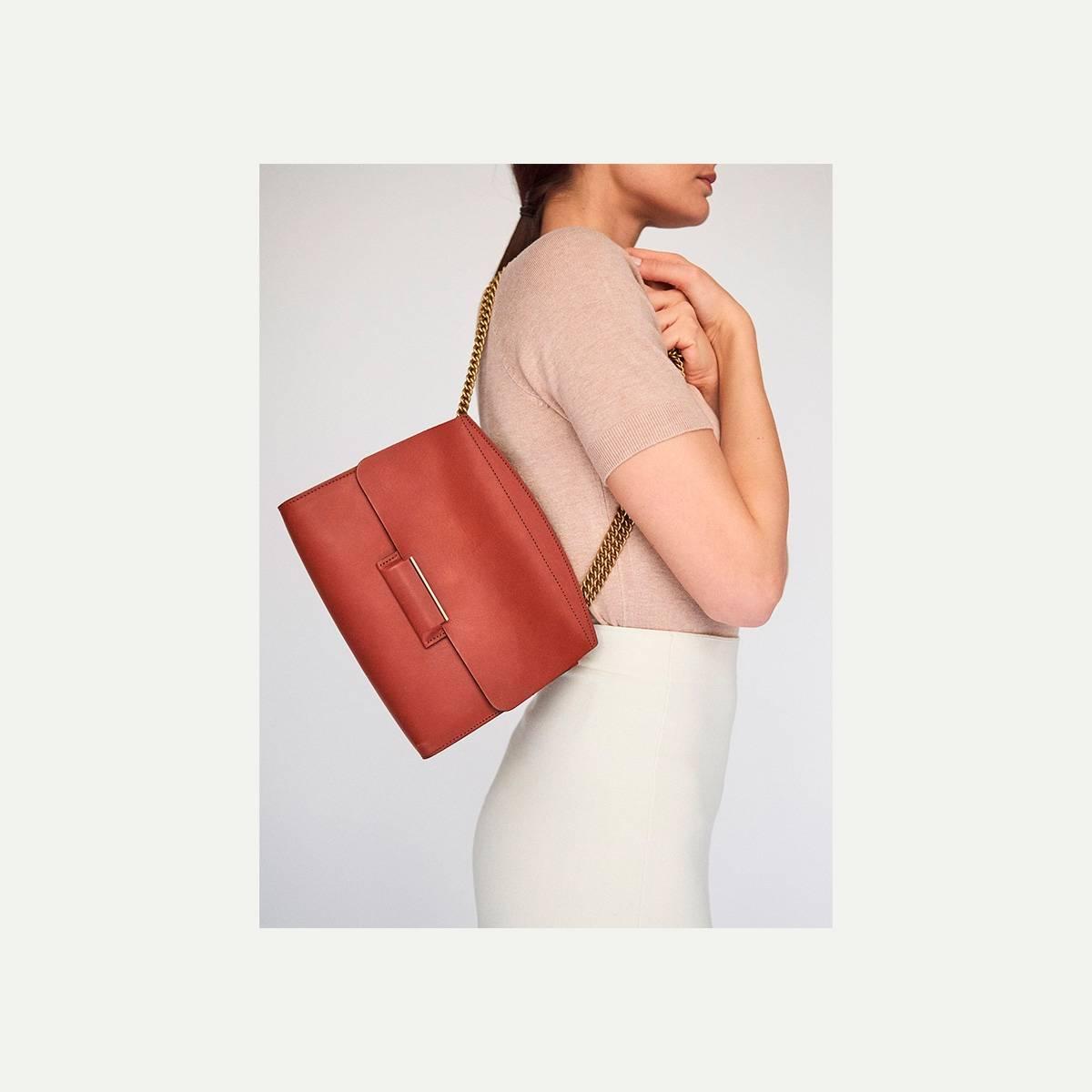 Origami S clutch bag - Rust (image n°2)