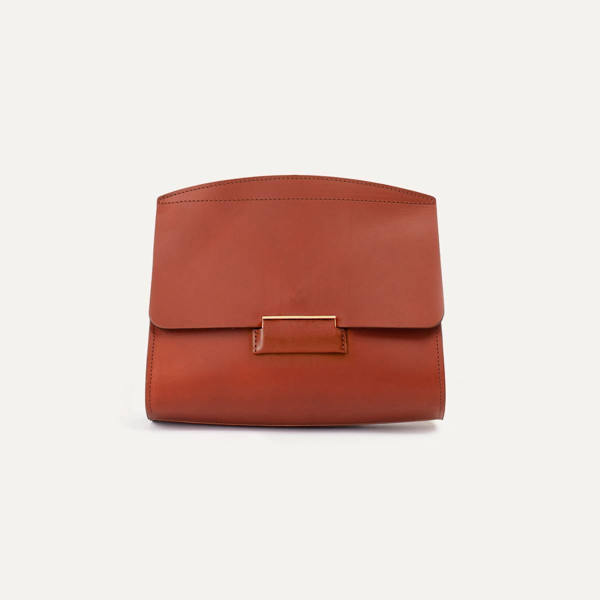 Origami S clutch bag - Rust (image n°4)