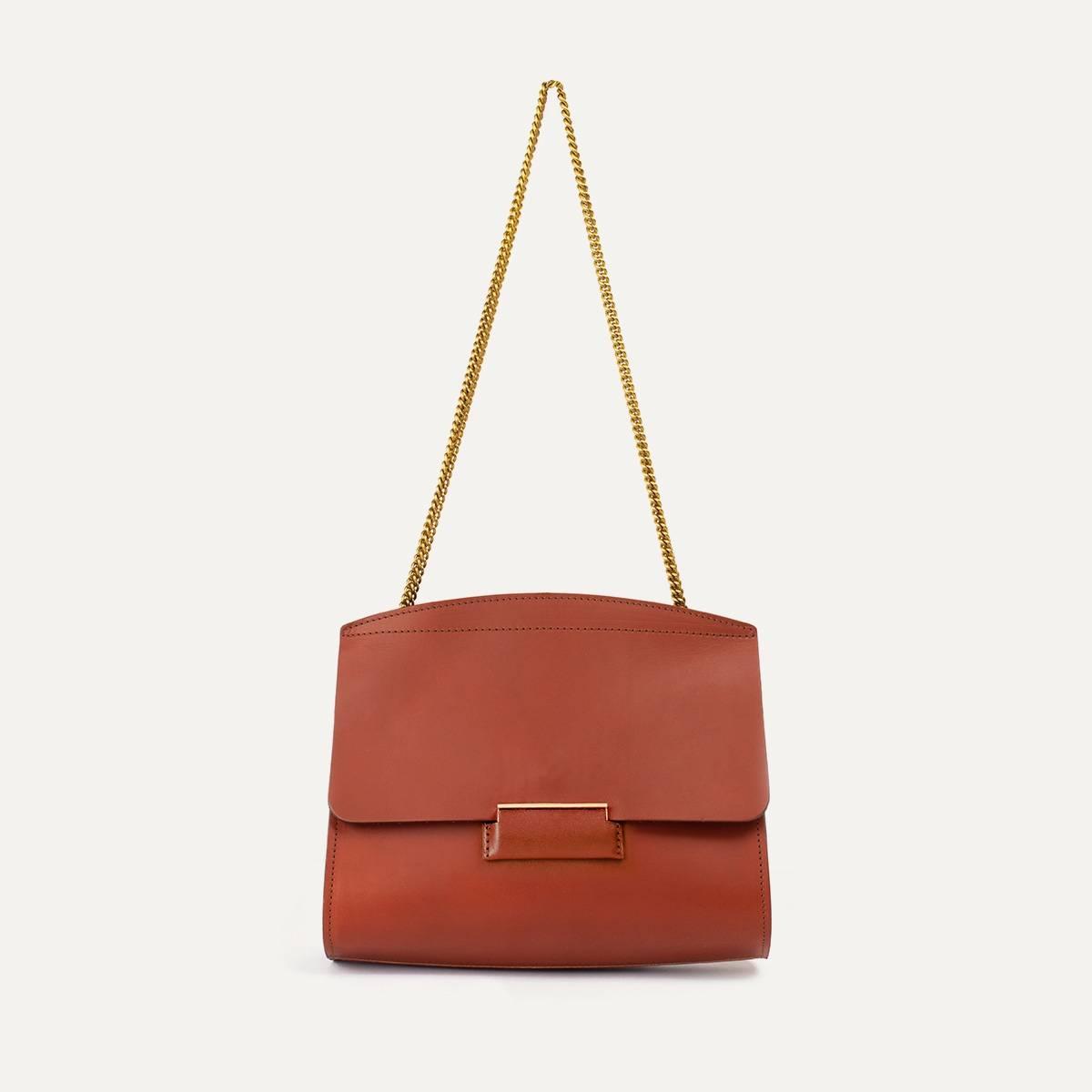 Origami S clutch bag - Rust (image n°1)
