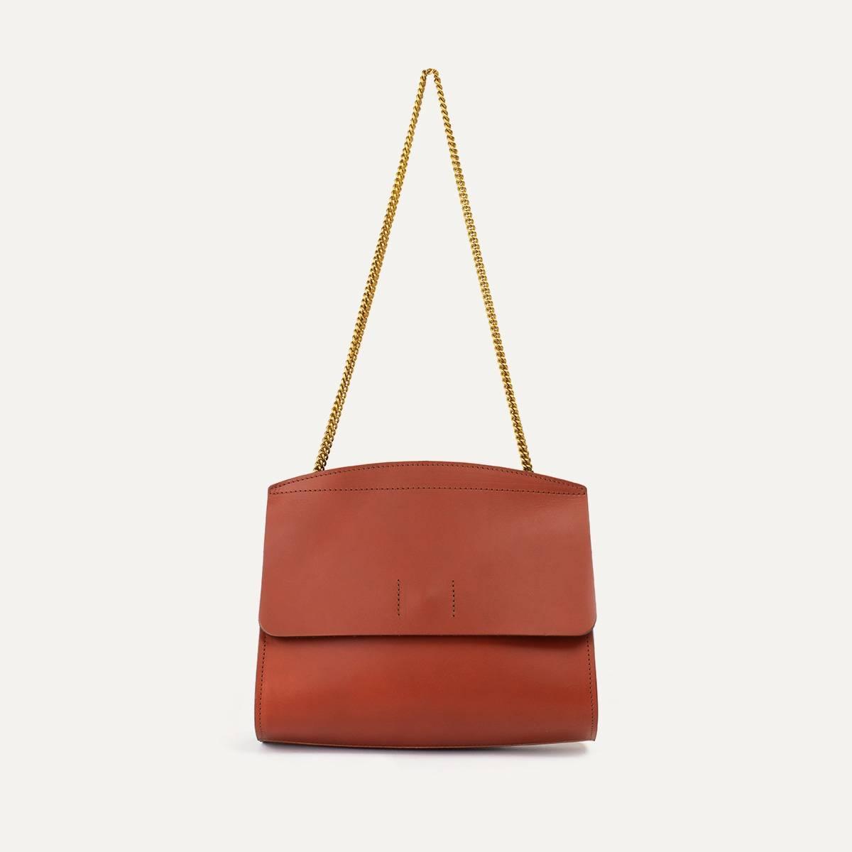 Origami S clutch bag - Rust (image n°3)