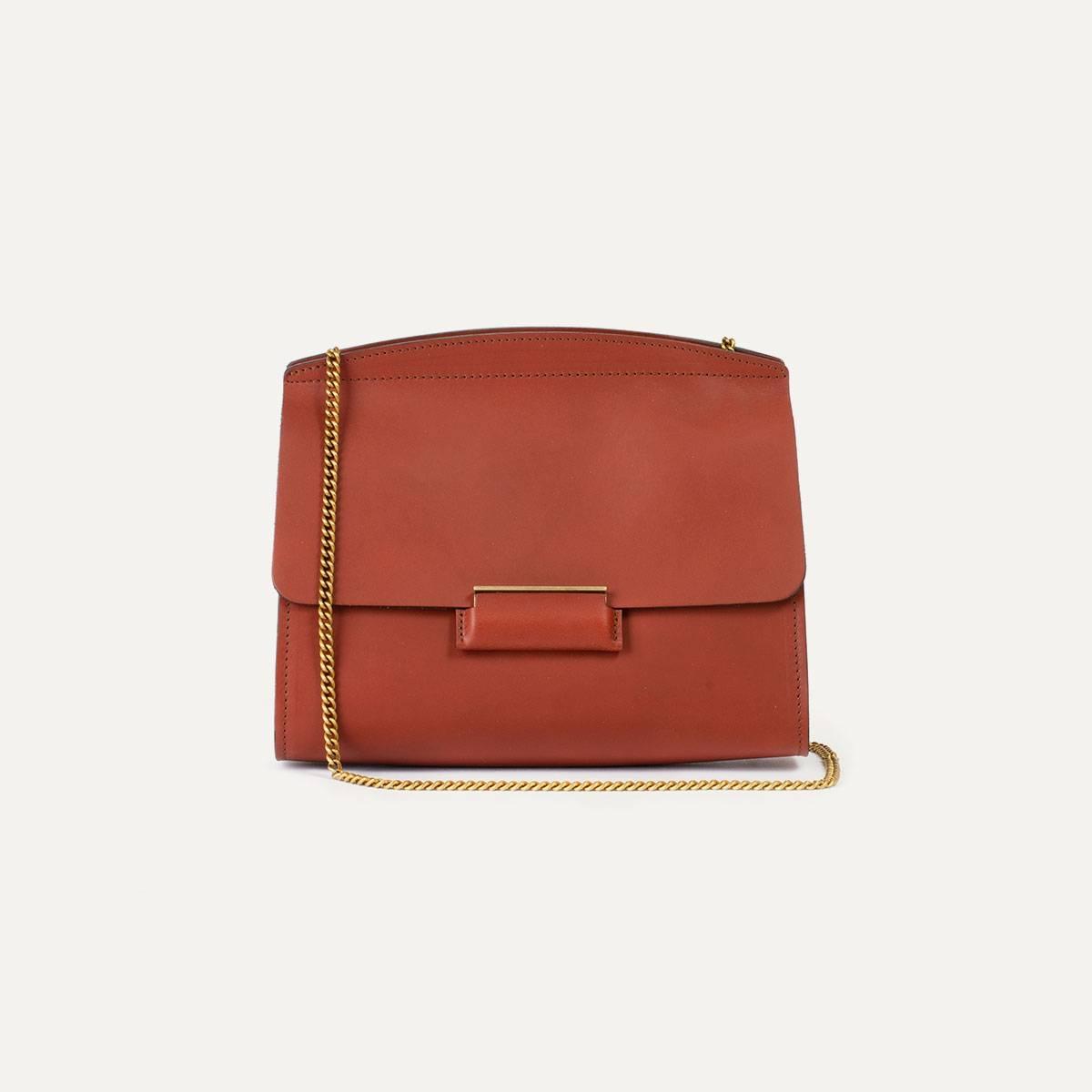 Origami S clutch bag - Rust (image n°5)