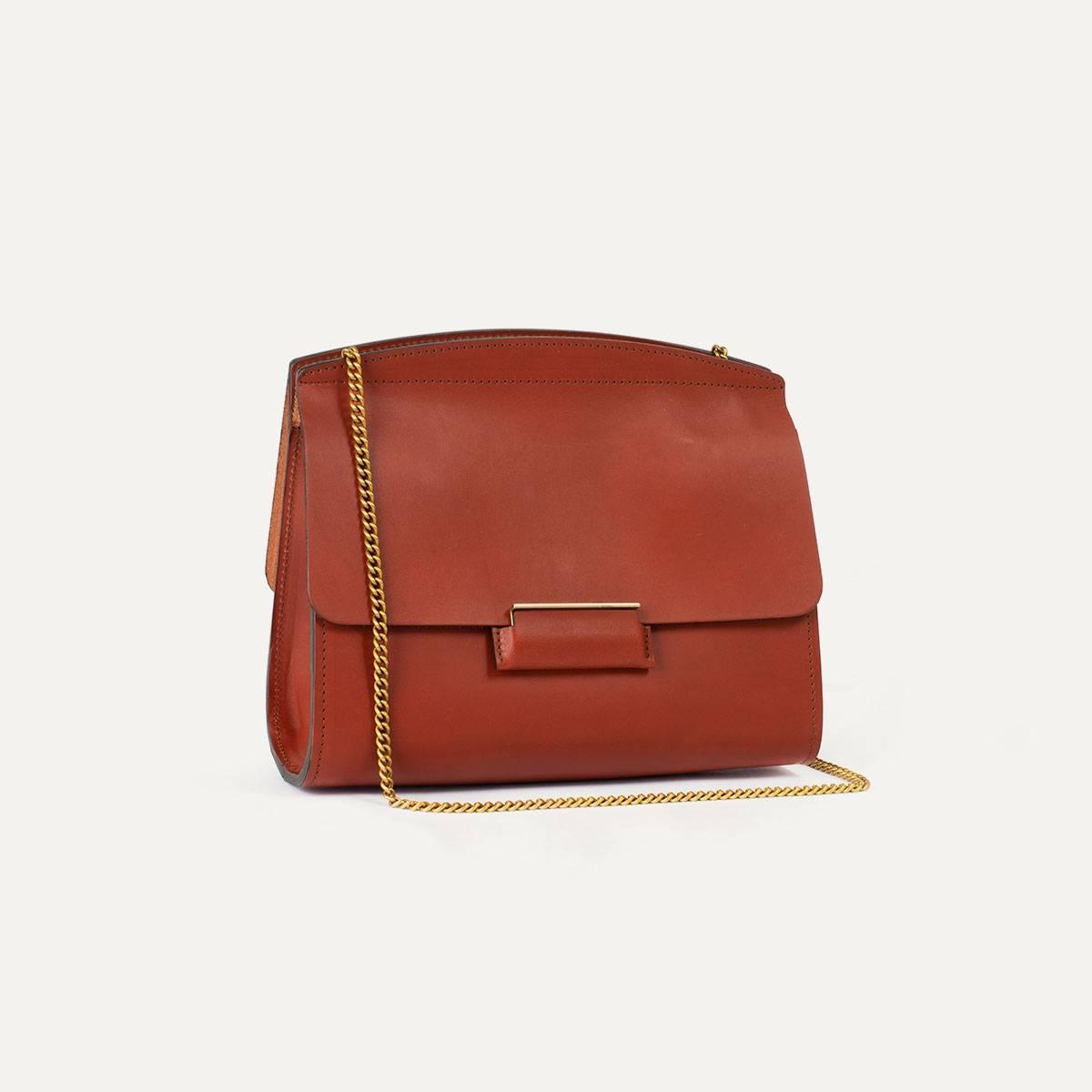 Origami S clutch bag - Rust (image n°6)