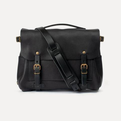 Postman bag Éclair M - Black