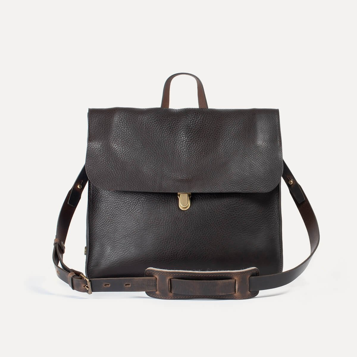 Chico Leather Satchel - Dark Brown / E Pure (image n°1)
