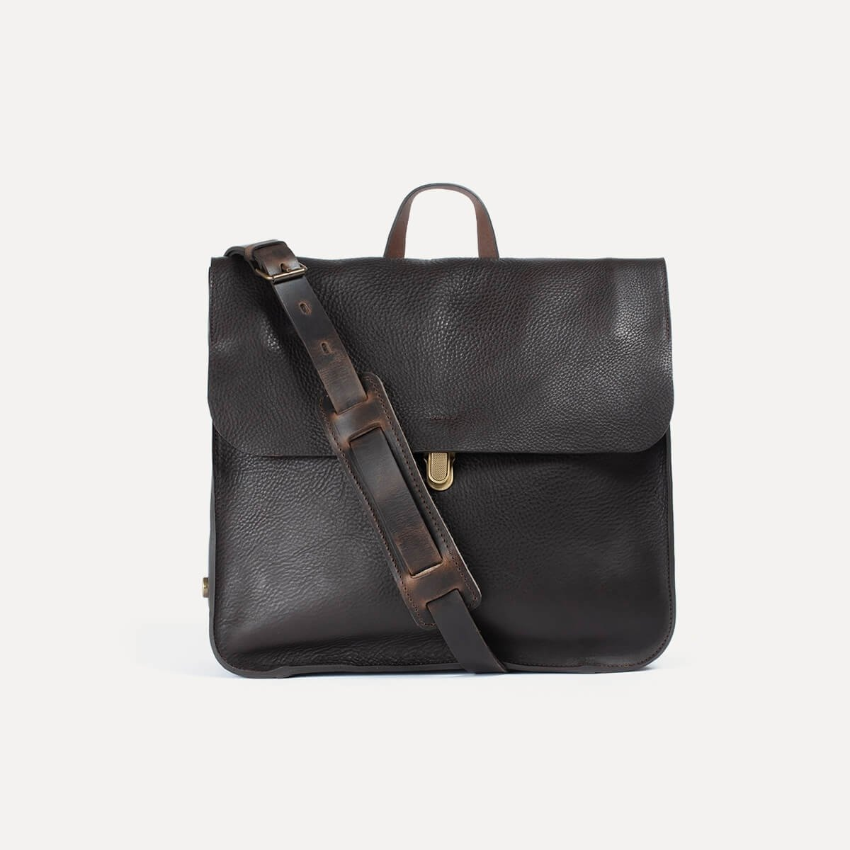 Chico Leather Satchel - Dark Brown / E Pure (image n°2)