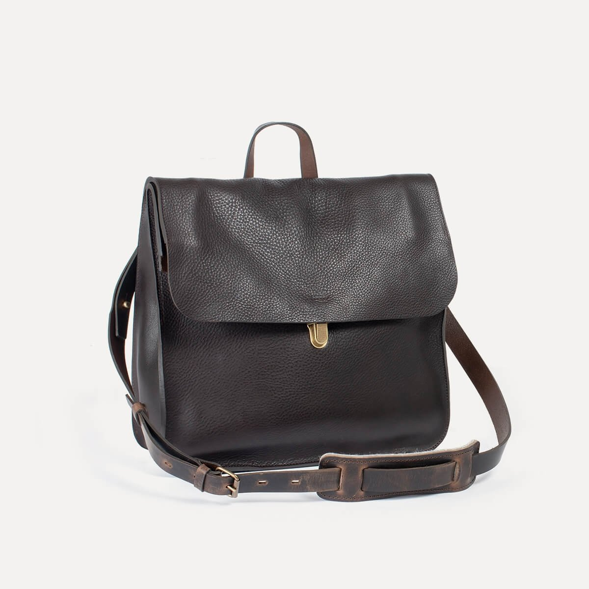 Chico Leather Satchel - Dark Brown / E Pure (image n°3)