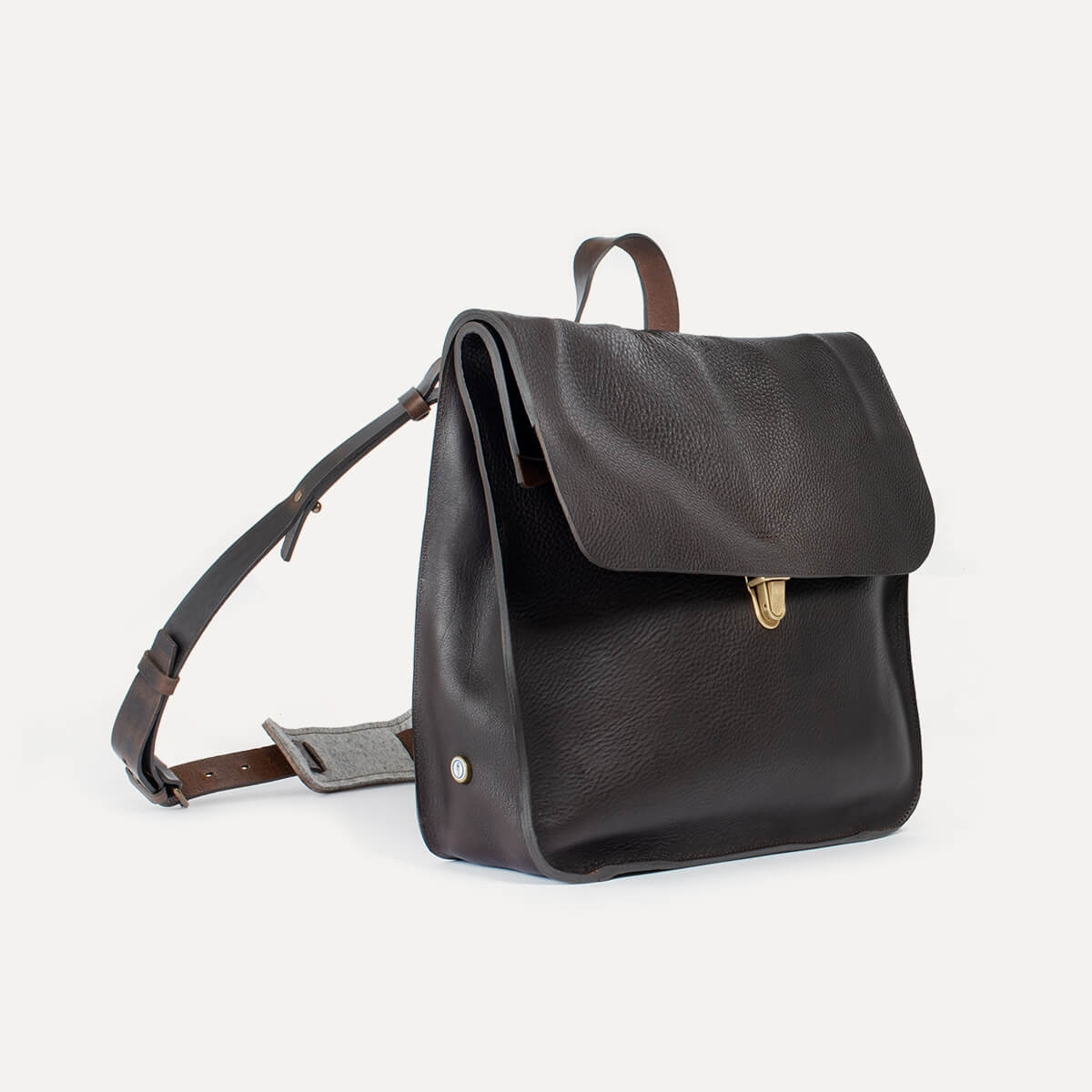 Chico Leather Satchel - Dark Brown / E Pure (image n°4)