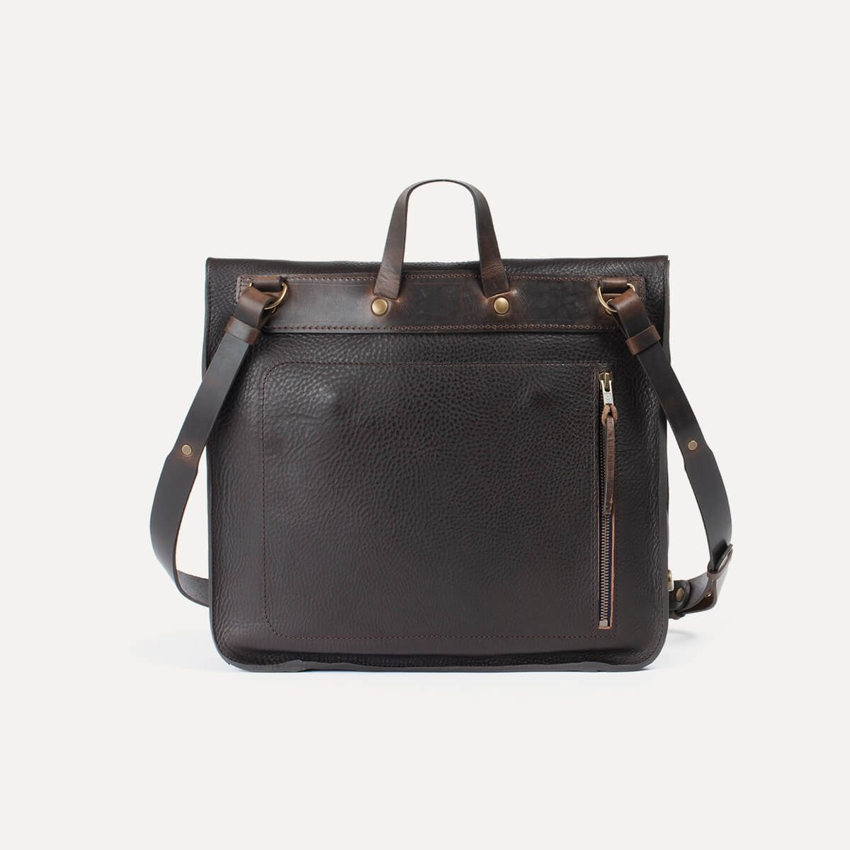 Chico Leather Satchel - Dark Brown / E Pure (image n°5)