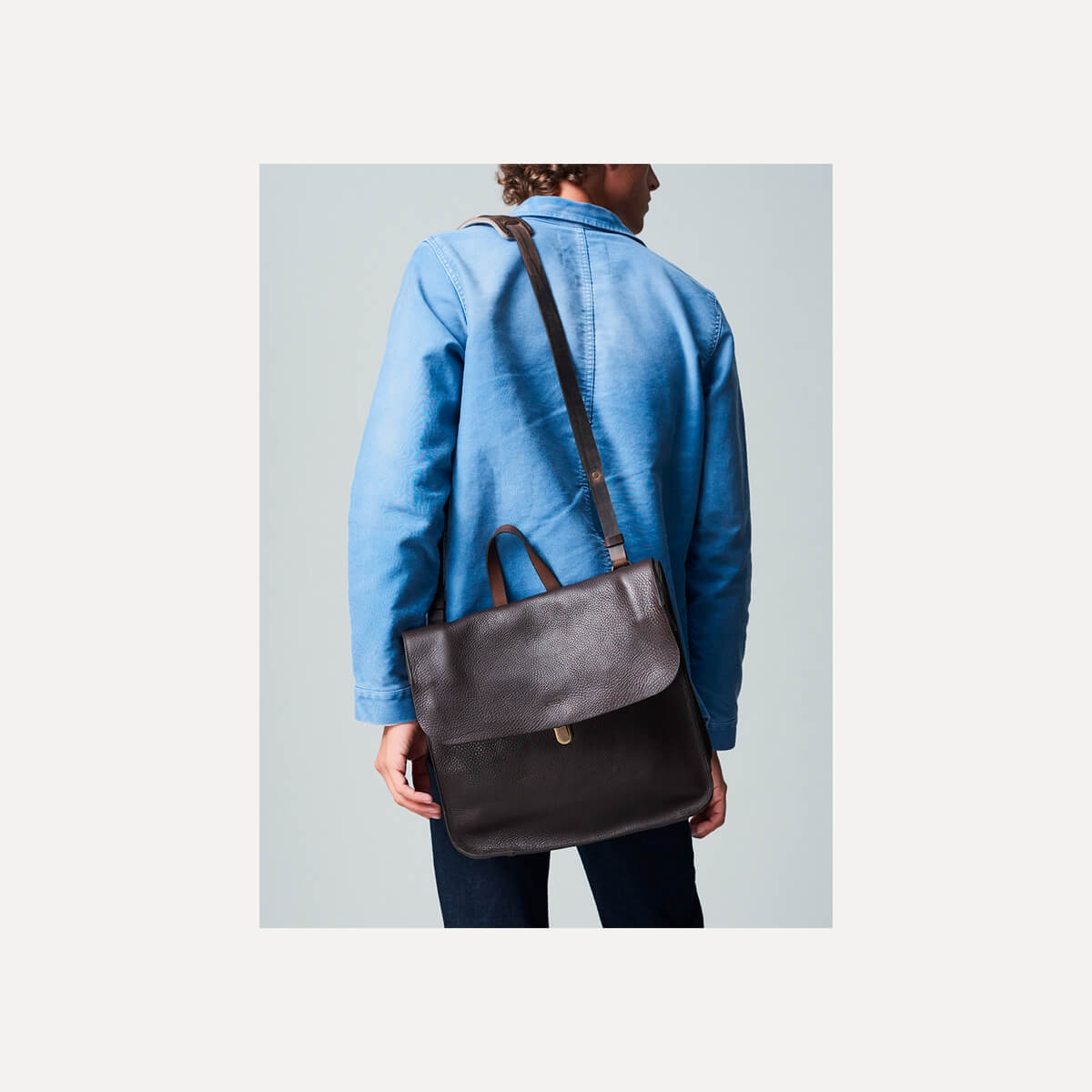 Chico Leather Satchel - Dark Brown / E Pure (image n°6)