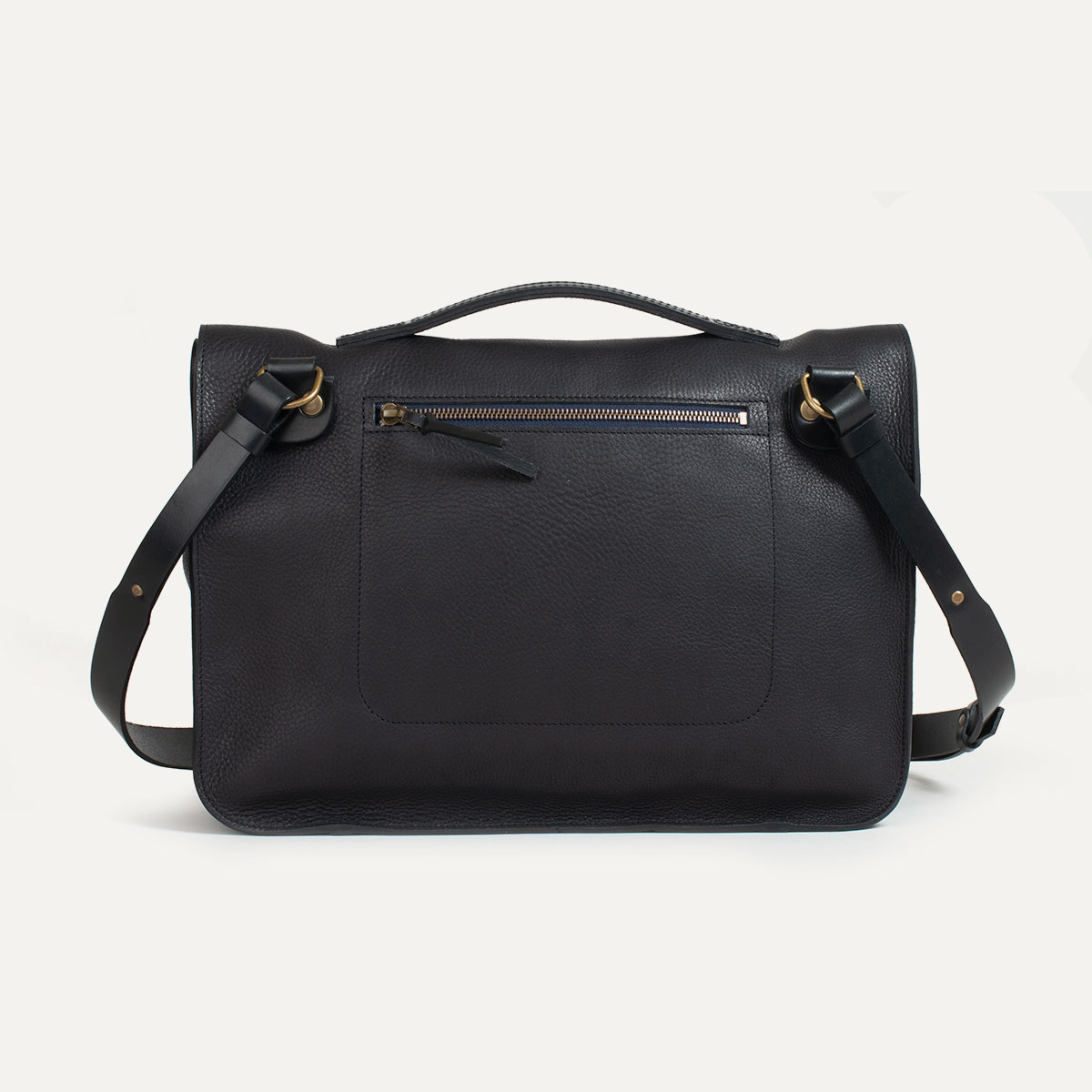 sac cartable cuir i made in france bleu de chauffe. Black Bedroom Furniture Sets. Home Design Ideas