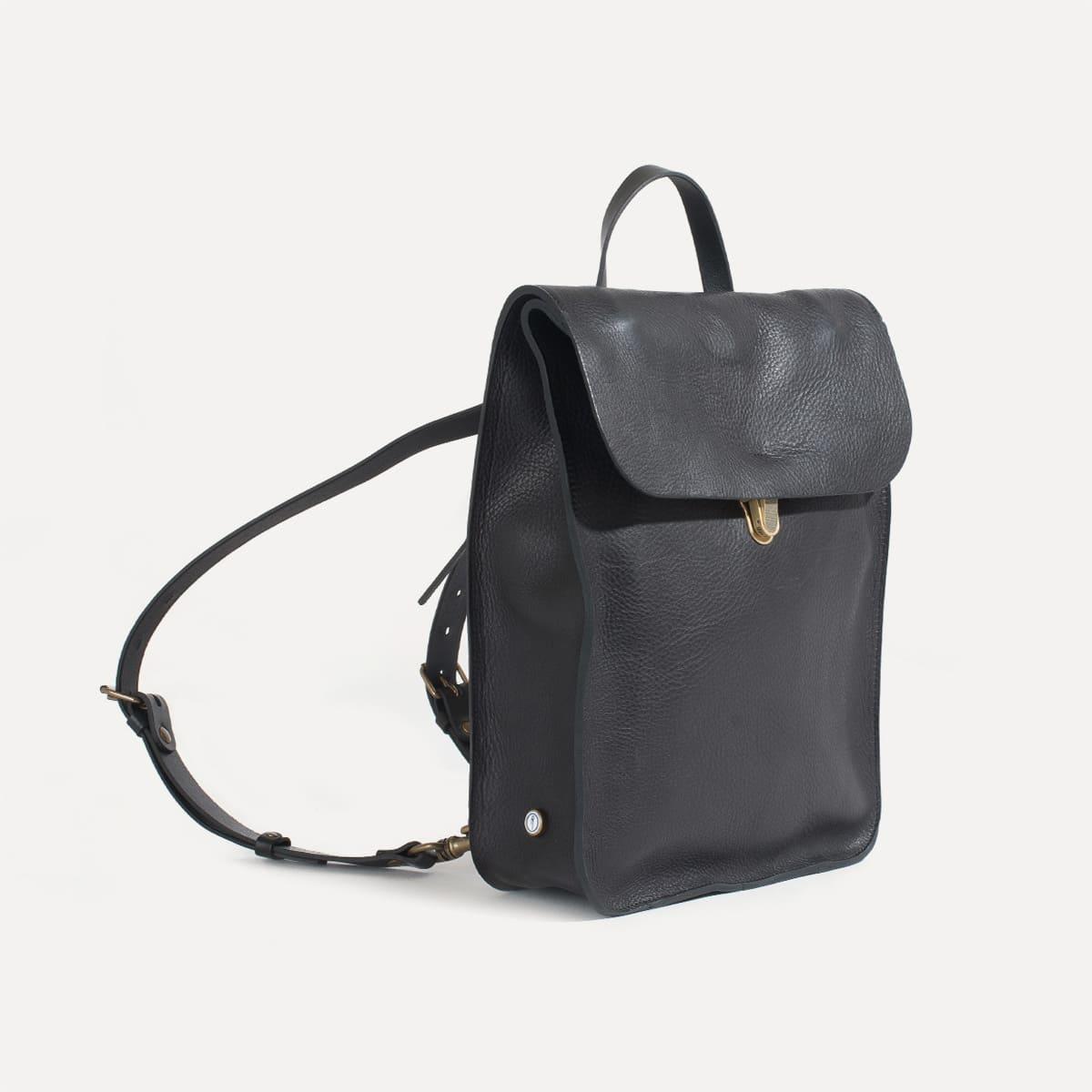 sac dos en cuir pour homme i made in france bleu de. Black Bedroom Furniture Sets. Home Design Ideas