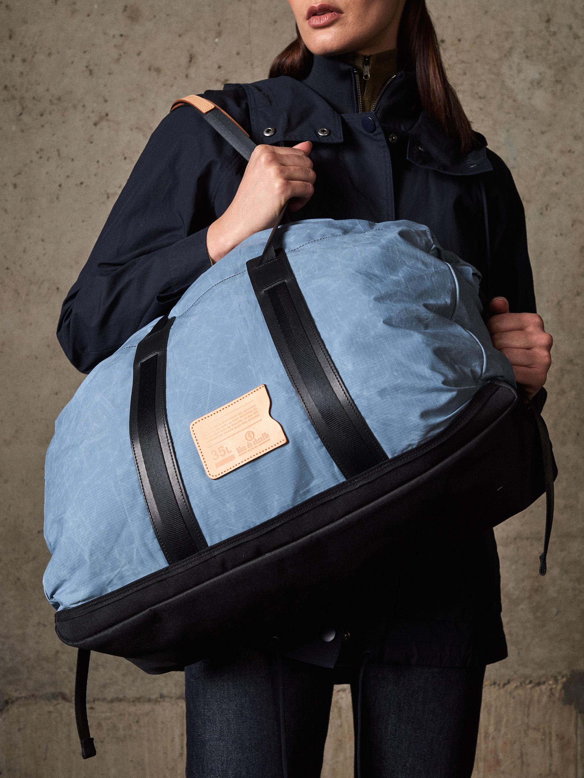 sac de voyage baroud 35l bleu gris bleu de chauffe. Black Bedroom Furniture Sets. Home Design Ideas