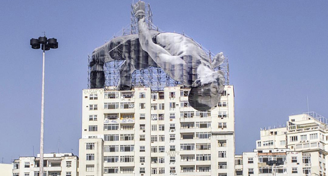 Amazing installations by  JR in Rio
